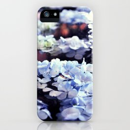 blue flowers floating iPhone Case