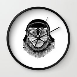 Chimpanzee Pilot Wall Clock