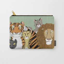 Surprised Big Cats Carry-All Pouch