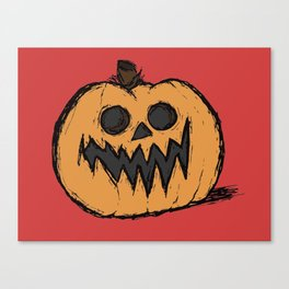 spoopy pumpkin Canvas Print