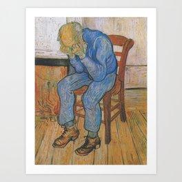 Vincent van Gogh - Sorrowing Old Man (At Eternity's Gate) Art Print