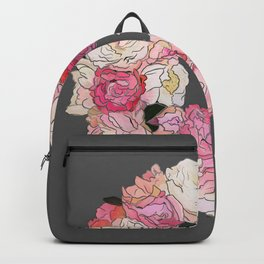 Peony Wreath Painting (dab grey)Feng Shui Backpack