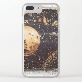 Moonscape Clear iPhone Case