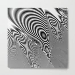 Fractal Op Art 1 Metal Print