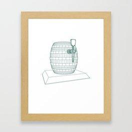 beer keg Framed Art Print