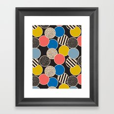 Memphis Inspired Pattern 6 Framed Art Print