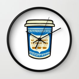 NYC Coffee Cup Wall Clock