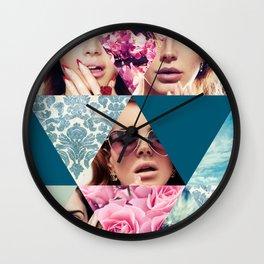 Lana Del Floral Wall Clock