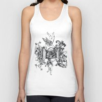 angels Tank Tops featuring Angels by LinnaDesign