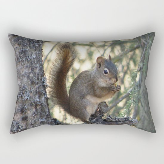 Soldotna Red Squirrel Rectangular Pillow
