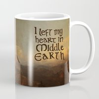 lotr Mugs featuring I Left My Heart in Middle Earth by Leah Flores
