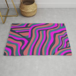 psychedelic zebra Rug