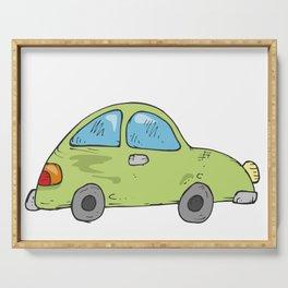 Green car Serving Tray