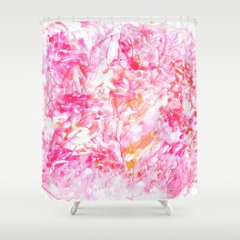 DELIGHT | monotype #2 Shower Curtain