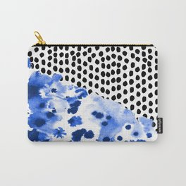 Monroe - India ink, indigo, dots, spots, print pattern, surface design Carry-All Pouch