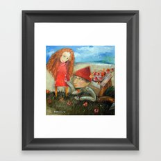 Pick Wildflowers For You Framed Art Print