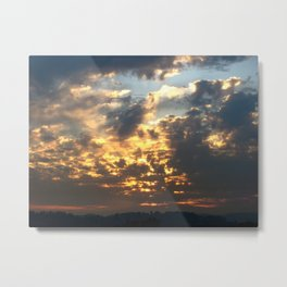 Bruins Sunset Metal Print