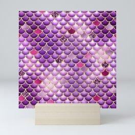 Purple Mermaid Scales Mini Art Print