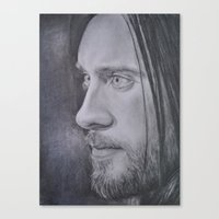 jared leto Canvas Prints featuring Jared Leto by Jenn