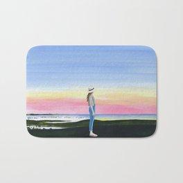 2017,sunset Bath Mat