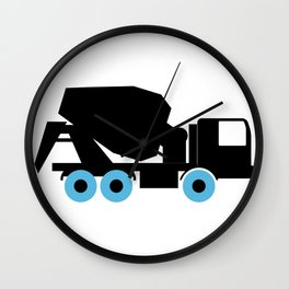 Cement Truck Icon Wall Clock