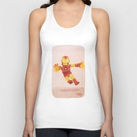 ironman Tank Tops featuring Ironman by Popol