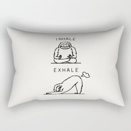 Inhale Exhale Sloth Rectangular Pillow