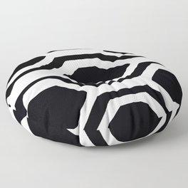 Black and White Geometric Floor Pillow