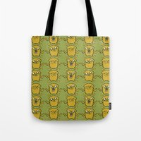 jake Tote Bags featuring JAKE by SuperPills