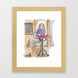 Bean Thinking About You Framed Art Print