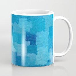 Squares Within Squares Blue Coffee Mug
