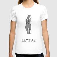 butt T-shirts featuring Cat Butt by Nic ter Horst