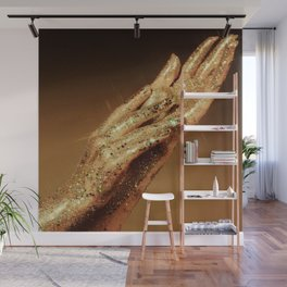 Gold Fingers Wall Mural