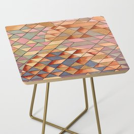 Triangles Circles Golden Sun Side Table