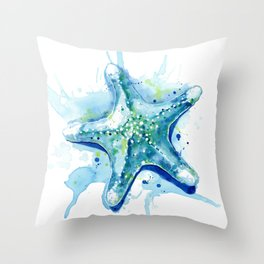Starfish Waters II Throw Pillow