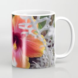 Hibiscus and Dusty Miller Coffee Mug
