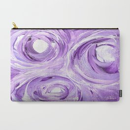 Lavendar Circles Carry-All Pouch