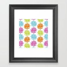 Fun Flowers multi-coloured Framed Art Print