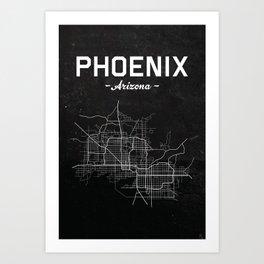 Phoenix, Arizona - b/w Art Print