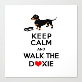 Walk the Doxie Canvas Print