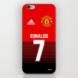 Ronaldo - Manchester UNited HOme 2018/19 iPhone Skin