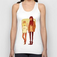 snk Tank Tops featuring Ymir and Historia by rhymewithrachel