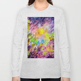 Abstrct Purple Long Sleeve T-shirt