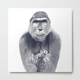 Friendly Ape Metal Print