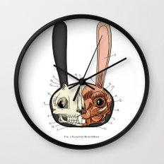 Visible Floating BunnyHead Wall Clock