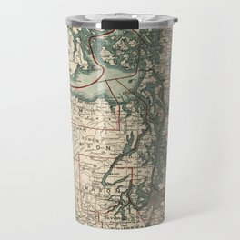 Vintage Map of The Puget Sound (1910) Travel Mug