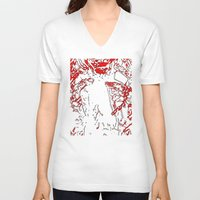 gore V-neck T-shirts featuring Gore by Jessica Slater Design & Illustration