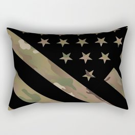 U.S. Flag: Military Camouflage Rectangular Pillow