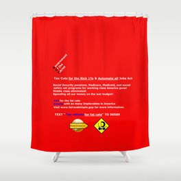 Fair and Simple GOP Shower Curtain