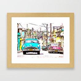 Cuba , calle de La Habana  ( Cuba , Havana street ) Framed Art Print